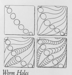 worm holes zentangle