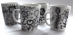 2 mugs FloraBunda 72