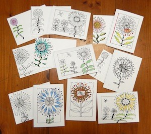 3 notecards FloraBunda 72